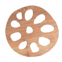 Set of 3 Elegant Bamboo Coasters Drinks Cup Coasters Natural