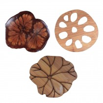Set of 3 Natural Material Coasters Coffee And Drinks Coasters