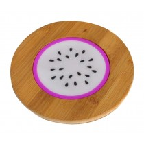 Set of 2 Lovely Dragon Fruit Bamboo Coasters Tablemats Pot Holder