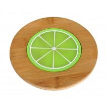 Set of 2 Lovely Lemon Bamboo Coasters Bowl Pad Tablemats