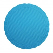Set of 2 High-quality Durable Round Silicone Coasters Tablemats