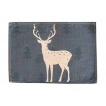 Fashional Cotton And Linen Cloth Napkin Pad Placemat,White Deer