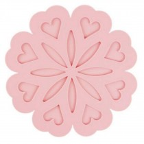 Set of 4 Lovely Pink Anti-hot Pad Place Mats Insulation Mats