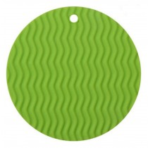 Bright Green Durable Place Mats Insulation Mats Durable Silicone Mats