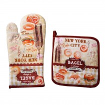Comfortable Oven Mitts/Insulation Pads/Kitchen Mitts/Heat Insulation Gloves