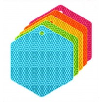 Set of 3 Colorful Creative Honeycomb Pot Holders Nonslip Insulation Pads
