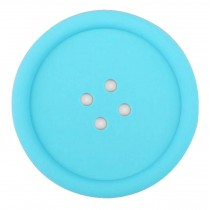 Set Of 4 Lovely Button shapes Pot Holders Coffee Pads Insulation Mats Blue