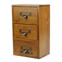 Lovely Small Practical Natural Wood Storage Chests Desktop Receive Container