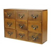 Lovely Elagant Natural Wood Storage Chests Receive Container With Nine Drawer