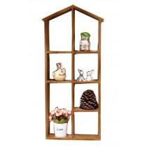 Classical Natural Wood Wall Hanging Storage Shelves Storage Racks