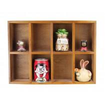 Creative Wood Storage Shelf Wooden Storage Racks Natural Color