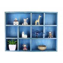 Classical Wood High-quality Storage Shelves Storage Rack, Blue
