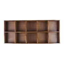 High-grade Wood Storage Shelves Handmade Storage Rack 10 Drawers