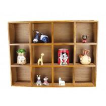 12 Drawers Good Wood Storage Shelves Handmade Wooden Storage Rack