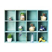 High-class 12 Drawers Wood Storage Shelves Handmade Storage Rack