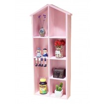 Lovely Creative Wood Storage Shelves Storage Rack Wall Hanged, Pink