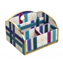 Elegant Handmade Wood Desk Storage Box For Stationery Small Items