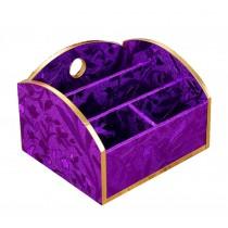 Beautiful Desk Storage Box/ Handmade Storage Chest, Purple Leaves