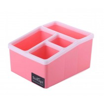 Lovely Desktop Storage Box For Cosmetics/ Stationeries,Pink