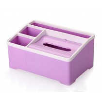 High-quality Multifunctional Desktop Storage Box/ Creative Tissue Box,Purple
