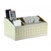 High-grade Multifunctional Desktop Storage Box Household Tissue Box,Beige