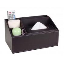Multipurpose Storage Box/ Creative Tissue Box 5 Cells, Coffee