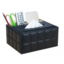 Creative Student Desktop Storage Box/ Multifunctional Tissue Box, Black