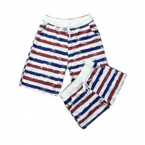 Set Of Two High-quality Stripe Men And Women Home Pants/Athletics Shorts