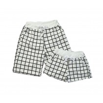 Set Of Two Good-looking Lattice Athletics Shorts/Couple Beach Pants