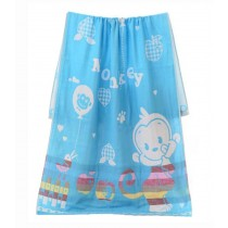 Lovely Cartoon Large Soft Sport Towels Children Babies' Bath Towels Blanket Blue