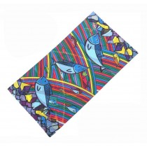 Lovely Creative Sketch Style Cycling Scarf Beautiful Neckerchief Scarves
