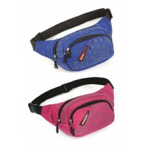 Set of 2 Durable Outdoor Waist Packs Sports Running Pockets (Red And Blue)