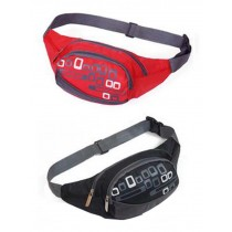 Set of 2 High-grade Durable Sports Pockets Outdoor Waist Packs (Black And Red)