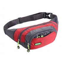 Lovely Fashionable Sports Waist Packs Multifunctional Good Backpack Pocket (Red)