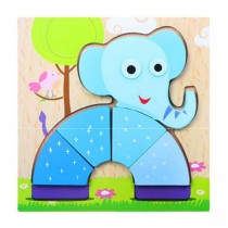 Lovely Animal Pattern Wood Jigsaw Puzzle For Babies And Children Wooden Puzzles