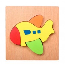 Lovely Cartoon Plane Pattern Jigsaw Puzzle For Babies Children Wooden Puzzles