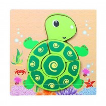 Lovely Cartoon Tortoise Jigsaw Puzzle Cute Wooden Puzzles For Babies Kids