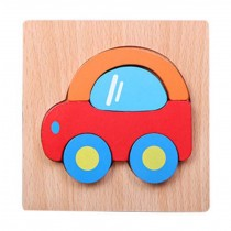 Cartoon Car Model Jigsaw Puzzle Cute Wooden Puzzles Babies Kids Toys
