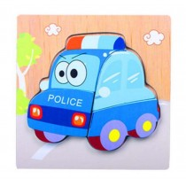 Creative Cartoon Jigsaw Puzzle Cute Wooden Puzzles Babies Kids Toys, Small Car