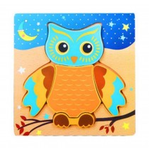 Creative Cartoon Owl Jigsaw Puzzles Lovely Wooden Puzzles Babies Kids Toys