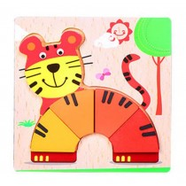 Lovely High-quality Cartoon Tiger Jigsaw Puzzles Wooden Puzzles Kids Baby Toys