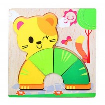 High-quality Lovely Cat Wooden Jigsaw Puzzles  Puzzles Kids Baby Toys Puzzles