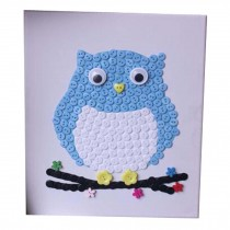 Animal Pattern Style Puzzle/Button Painting/Parent-child Entertainment/Owl