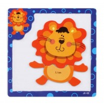 Lovely Lion Pattern Wooden Jigsaw Puzzles For Babies And Kids Puzzle