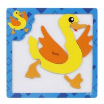 Lovely Creative Wood Jigsaw Puzzles Educational Toys Magnetic puzzles, Duck