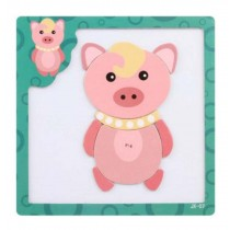 Lovely Creative Assembling Puzzles Educational Toys Magnetic Puzzles, Pink Pig
