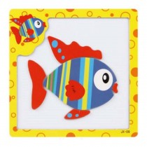 Creative Assembling Puzzles Magnetic Puzzles Educational Toys, Colorful Fish