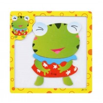 Funny Frog Jigsaw Puzzle Educational Toys Drawing Board Puzzle For 2~8 Years Old