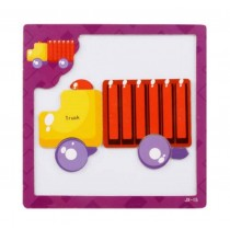 Small Interesting Magnetic Jigsaw Puzzle Kids' Educational Toys Puzzles (Trucks)