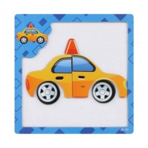 Lovely Taxi Pattern Kids Children Educational Toys Magnetic Jigsaw Puzzles